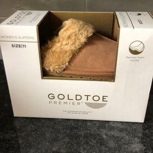 Women's GOLDTOE slippers, size 11, New in Box